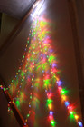 180 LED Top Star Multi Colour Waterfall Lights Clear Wire 2.4M