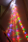 180 LED Top Star Multi Colour Waterfall Lights Green Wire 2.4M