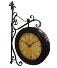 102CM French Large Grand Hotel Clock Double Sided With On Wall Bracket