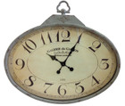 80CM French Vintage GALERIE du GASTON Horizontal Oval Wall Clock