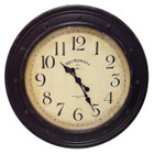 79CM Antique Country HOTEL WESTMINSTER Wall Clock with Brown Metal Border