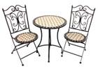 3 Piece Mosaic Cafe Table Chairs Set Garden Patio Decor Design Outdoor Furniture E139021