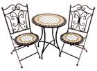3 Piece Mosaic Cafe Table Chairs Set Garden Patio Decor Design Outdoor Furniture E139022