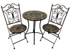 3 Piece Mosaic Cafe Table Chairs Set Garden Patio Decor Design Outdoor Furniture E139023