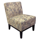Fully Upholstered Slipper Chair Living and Bedroom Dressing Chair
