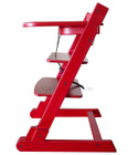 Red Wooden Folding Baby High Chair with Tray