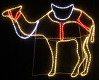 120CM Wide LED Nativity Standing Camel Christmas Motif Rope Lights