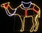 120CM Wide LED Nativity Standing Camel Christmas Motif Rope Lights