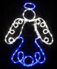 Animated 52CM LED Blue and White Angel Nativity Christmas Motif Lights (36V Safe Voltage)