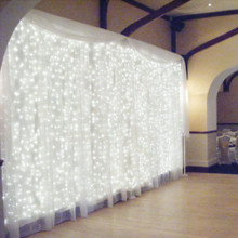 462 LED White Wedding Curtain Backdrop Lights with 8 Functions & Memory 3M X 3M