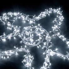65M 700 LED IP44 White Christmas Wedding Party Fairy Lights with 8 Functions (Clear Cable)
