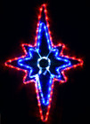 Animated 70CM LED Multi Colour Bethlehem Star Nativity Christmas Motif Rope Lights