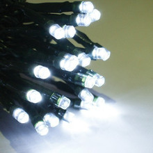 LED Solar White Christmas Fairy Lights with 8 Functions