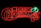 Animated 146CM Red and Green 'Merry Christmas' Motif Rope Lights