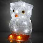 22CM 3D Acrylic Owl White LED Christmas Lights (Battery Operated)