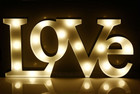 46CM 3D LOVE Sign With LED Warm White Lights Metal Frame