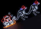 Animated 270CM LED Santa on Sleigh and Kangaroos Christmas Motif Rope Lights (36V Safe Voltage)