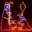 120CM High LED Nativity Manger with The Star Of Bethlehem Scene Christmas Motif Rope Lights