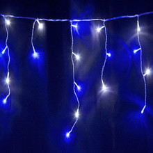 350 LED IP44 Blue and White Christmas Wedding Party Icicle Lights