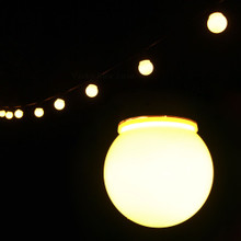 6.5M 20 LED Warm White Festoon Fairy Lights with Milky Round Globe