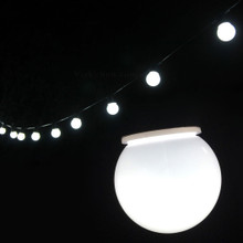 6.5M 20 LED White Festoon Fairy Lights with Milky Round Globe