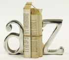 "Set 2 ""A - Z"" Aluminium Bookends"