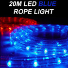 20M LED Christmas Blue Rope Lights