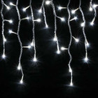 200 LED White Christmas Icicle Lights