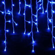 500 LED Blue Christmas Icicle Lights