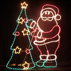 Animated 115CM Santa and Christmas Tree Motif Rope Lights
