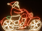 Animated 150CM Santa on Motocycle Christmas Motif Rope Lights