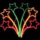 Animated 80CM High Flashing Star Christmas Motif Rope Lights