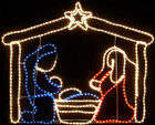 124CM Wide Nativity Christmas Motif Rope Lights