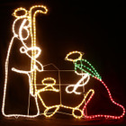 110CM High Nativity Manger Scene Christmas Motif Rope Lights