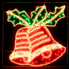 Animated 100CM 150 LED Christmas Bells Motif Rope Lights