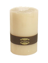 "Pillar Round Candles Ivory Unscented 4""x 6"""