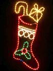 Animated 96CM High Christmas Stocking Motif Rope Lights