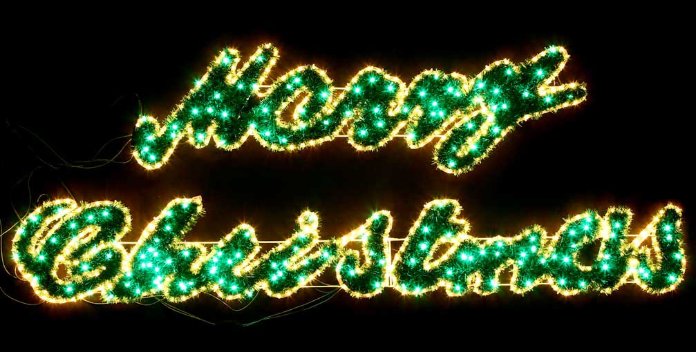 Lighted merry christmas signs ideas dma homes 2398 for Large outdoor christmas signs