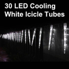 11.6M 30 LED White Icicle Tube Christmas Lights &amp; Snowing Function