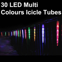 116m 30 led multi colours icicle tube christmas lights snowing function - Tube Christmas Lights