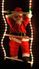 Santa Climbing Ladder Rope Lights Christmas Decoration