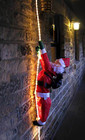 Santa Climbing Clear Rope Lights Christmas Decoration 2M
