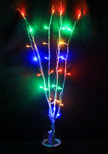32 LED 4 Branches Multi Colours Battery Twig Lights