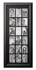 Shabby Chic Wood Multi Photo Frame 18 Open for 4x6 Black