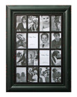 Shabby Chic Wood Multi Photo Frame 16 Open for 4x6 Black