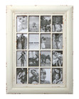 Shabby Chic Wood Multi Photo Frame 16 Open for 4x6 Cream