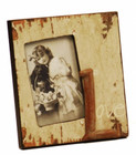 """Country Shabby Chic Pale Yellow """"Love"""" Photo Frame"""