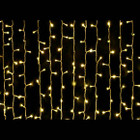 180 LED Warm White Wedding Curtain Backdrop Lights with 8 Functions & Memory 3M X 2.5M