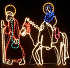 1M High Nativity Jesus and Mary Christmas Motif Rope Lights