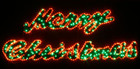Large 2M LED Merry Christmas Sign Motif Red LED Rope Lights